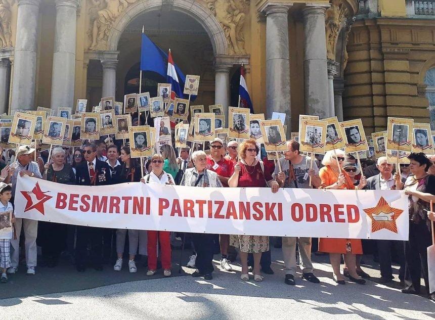 "Propao ""Besmrtni partizanski odred"": Kroz Zagreb marširalo tek stotinjak ljudi"
