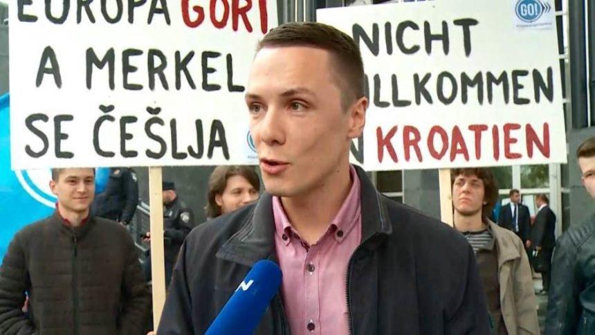 Prosvjed protiv Angele Merkel pred Cibonom: Europa gori, a Angela se češlja