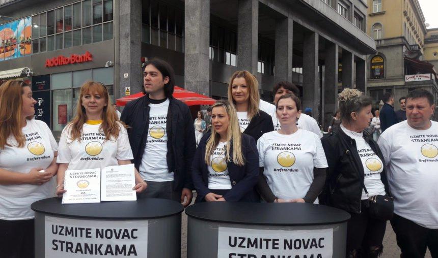 """Inicijativa """"Uzmite novac strankama"""": Referendumom ćemo uništiti HDZ i SDP koji su ogrezli u korupciji"""