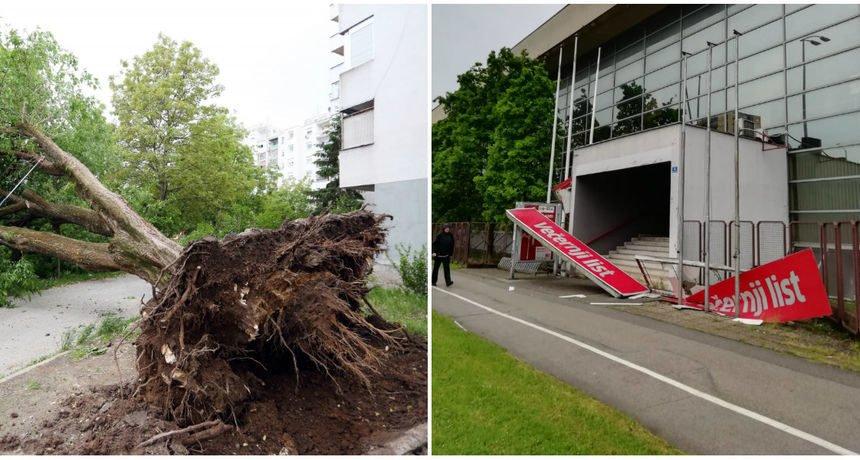 Olujni vjetar i jako nevrijeme: Policija preporučila građanima da ne izlaze iz domova