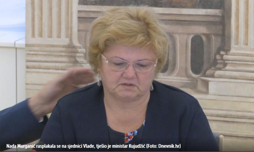 Smijenjena ministrica Nada Murganić nije izdržala: Rasplakala se na svojoj posljednjoj sjednici u Banskim dvorima