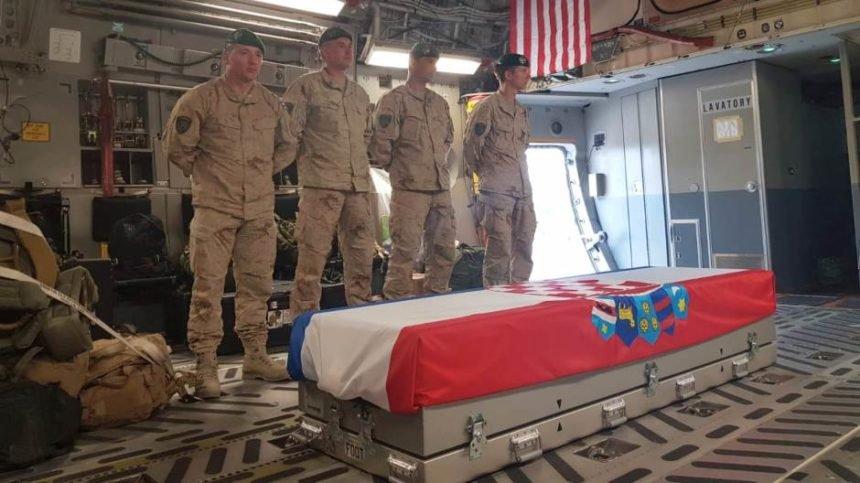 Tijelo preminulog hrvatskog vojnika stiglo u domovinu