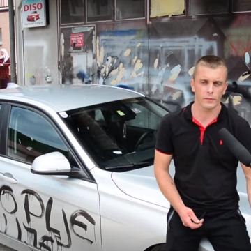 Autor grafita o genocidu u Srebrenici priznao: Ja sam išarao automobile