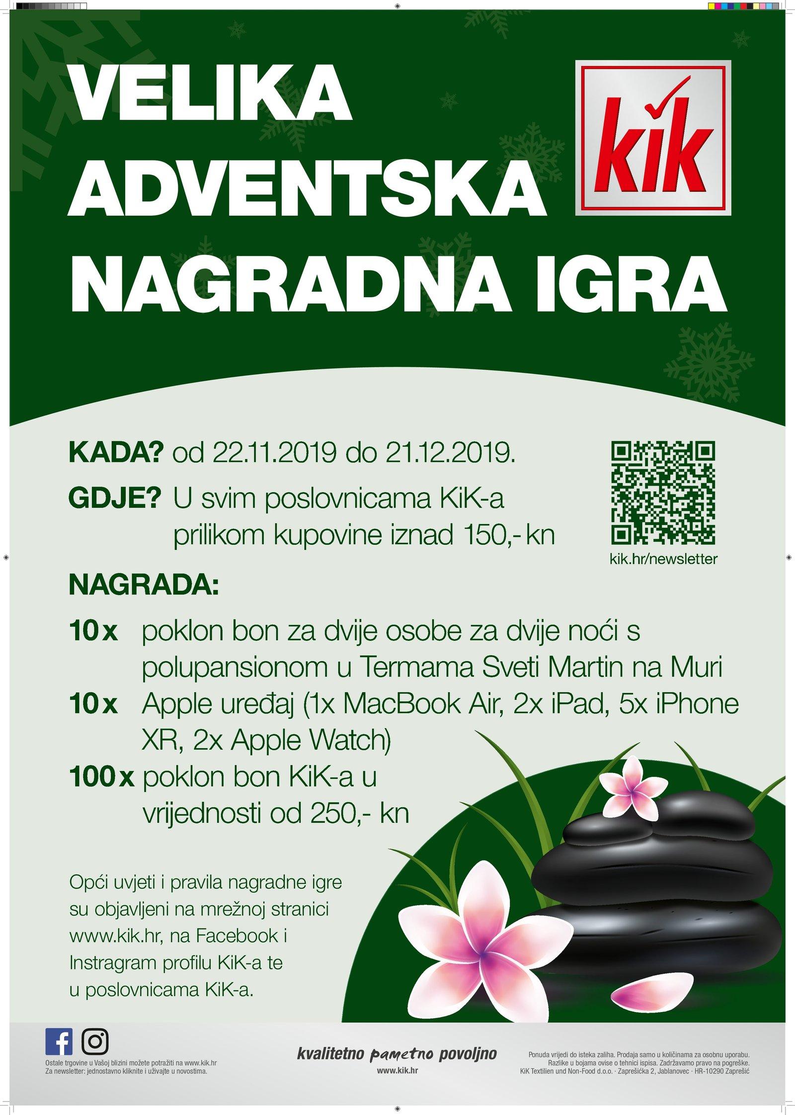 Kik daruje: Velika adventska nagradna igra!