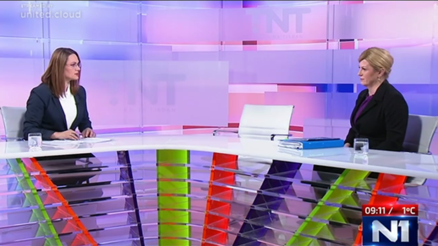 Kolinda došla na sučeljavanje na N1 televiziji: Što se dogodilo sa Zoranom Milanovićem