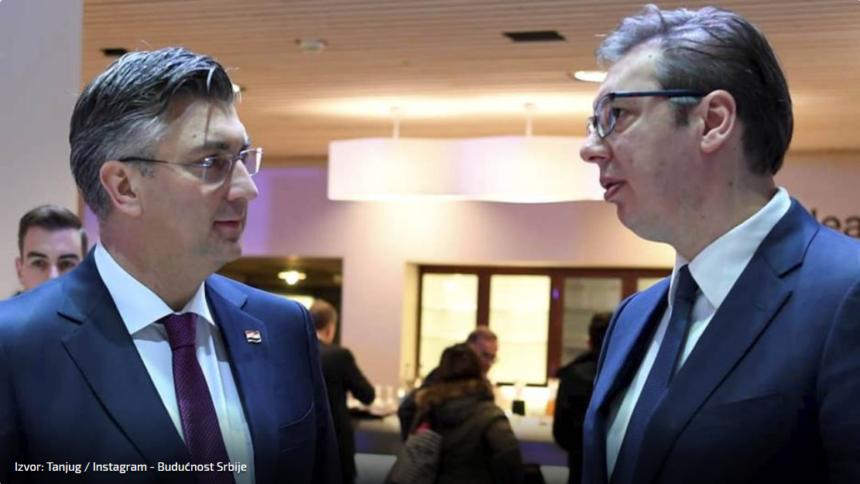 Vučić se pohvalio susretom s Plenkovićem u Davosu: Imali smo otvoren i ugodan razgovor