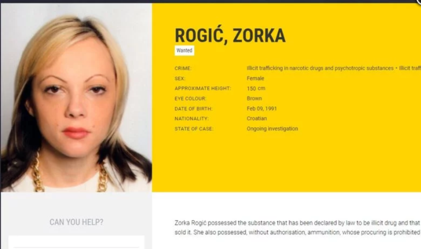 """Najtraženija hrvatska kriminalka uhićena u Irskoj: Zorka Rogić imala je """"biznis"""" s drogom i oružjem"""
