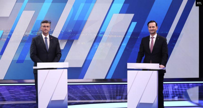 Debata Plenkovića i Kovača: Nisu se  rukovali zbog koronavirusa, a onda su počele međusobne optužbe