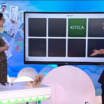 URNEBESNO: Voditeljica Maja Njirjak i učiteljica Mirna Barač muku muče s igrom memorije