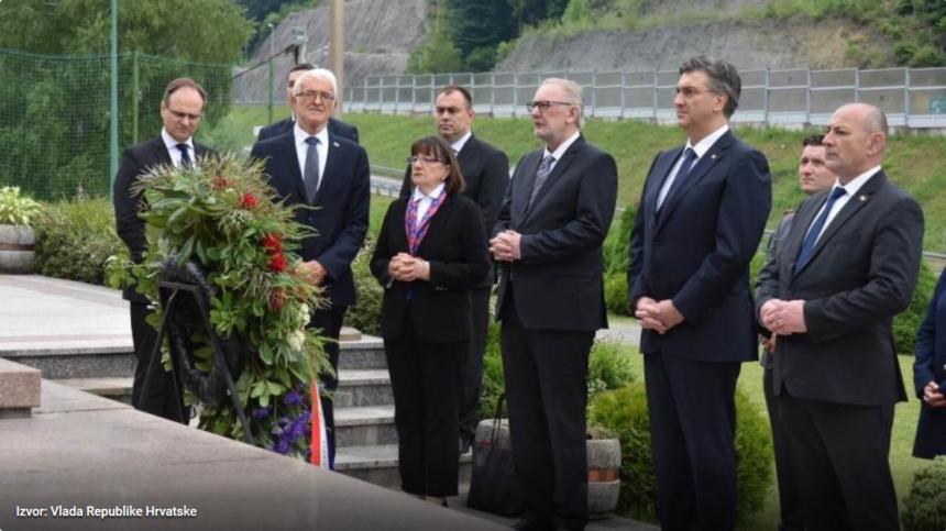 Plenković odao počast žrtvama Križnog puta: Počinjeni su strašni zločini