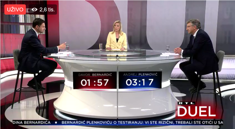 Počelo sučeljavanje šefova HDZ-a i SDP-a: Bernardić vidno nervozan, Plenković ponovno igra na stabilnost i sigurnost