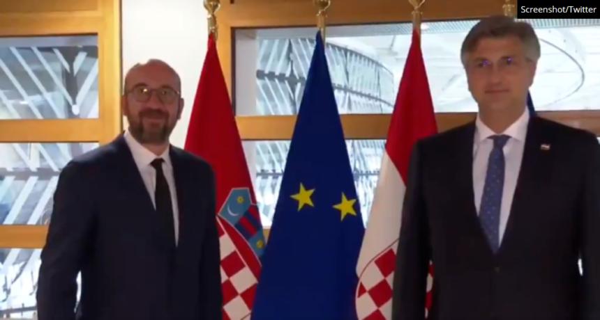Plenković se sastao sa svojim prijateljem Charlesom Michelom: Tvrdi da će Hrvatska dobiti ogromnu pomoć