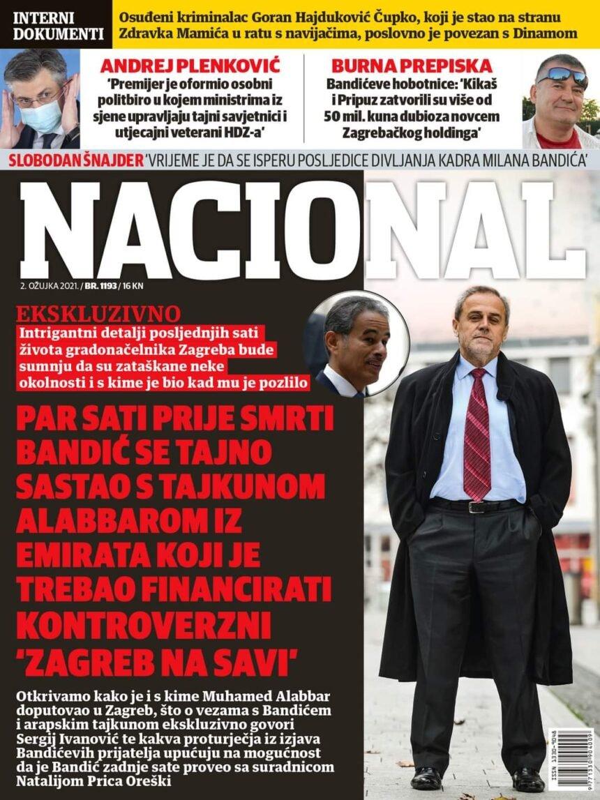 Glavni urednik Nacionala: Jesu li zataškane neke informacije o smrti Milana Bandića