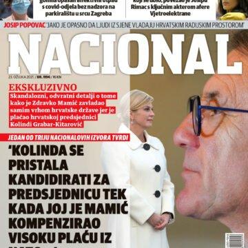 Nacional tvrdi: Zdravko Mamić je na crno dao pola milijuna eura za kampanju Kolinde Grabar Kitarović