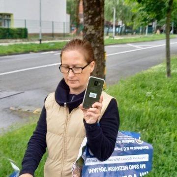 Sve prijavio policiji: HDZ-ovac ulovio kandidatkinju Možemo kako trga plakate